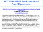 mgt 230 papers predictable world mgt230papers com 22