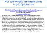 mgt 230 papers predictable world mgt230papers com 24