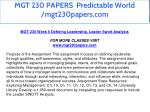mgt 230 papers predictable world mgt230papers com 25