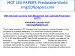 mgt 230 papers predictable world mgt230papers com 26
