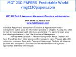 mgt 230 papers predictable world mgt230papers com 3