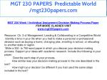 mgt 230 papers predictable world mgt230papers com 6