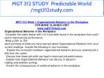 mgt 312 study predictable world mgt312study com 4