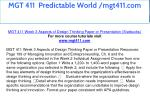 mgt 411 predictable world mgt411 com 13