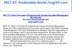 mgt 411 predictable world mgt411 com 15