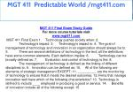 mgt 411 predictable world mgt411 com 2