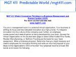 mgt 411 predictable world mgt411 com 21