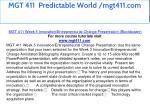 mgt 411 predictable world mgt411 com 24