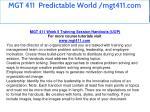 mgt 411 predictable world mgt411 com 27