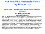 mgt 411 paper predictable world mgt411paper com 13