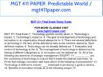 mgt 411 paper predictable world mgt411paper com 2