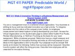mgt 411 paper predictable world mgt411paper com 21