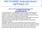 mgt 411 paper predictable world mgt411paper com 27