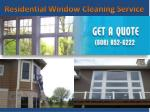 residential window c leaning service
