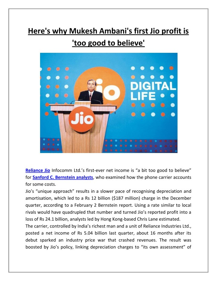 here s why mukesh ambani s first jio profit n.