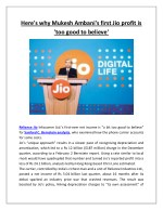 here s why mukesh ambani s first jio profit