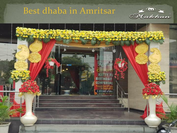 best dhaba in amritsar n.