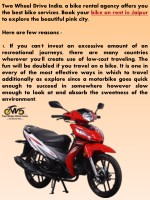 two wheel drive india a bike rental agency offers