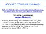 acc 492 tutor predictable world 10