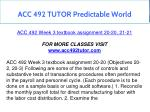 acc 492 tutor predictable world 11