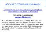 acc 492 tutor predictable world 3