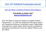 acc 497 genius predictable world 27