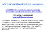 acc 543 homework predictable world 11