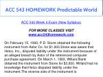 acc 543 homework predictable world 12
