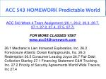 acc 543 homework predictable world 14