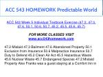 acc 543 homework predictable world 16