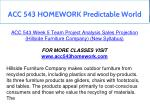 acc 543 homework predictable world 18