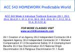 acc 543 homework predictable world 19