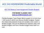 acc 543 homework predictable world 20