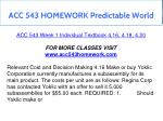 acc 543 homework predictable world 4