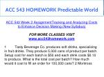 acc 543 homework predictable world 5