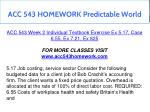 acc 543 homework predictable world 6