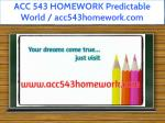 acc 543 homework predictable world acc543homework