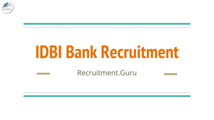 idbi bank recruitment n.