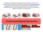 working as a dependable clipping path company