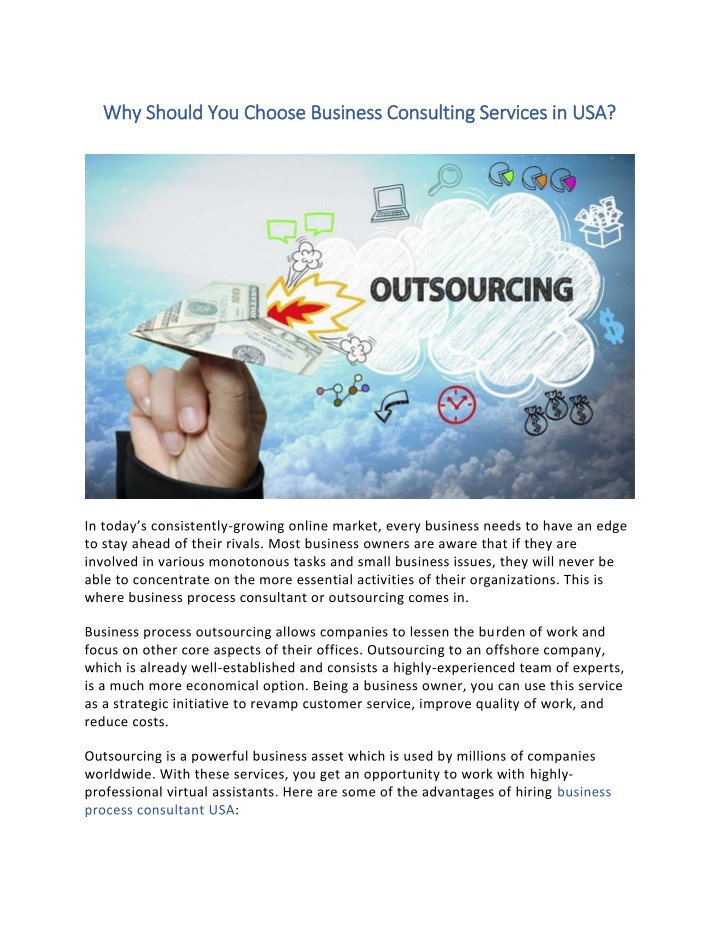 why should you choose business consulting n.