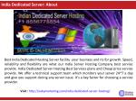 india dedicated server about