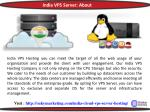india vps server about