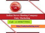 indian server hosting company oaky marketing