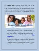 focus of pediatric prevention of dental problems