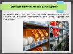electrical maintenance and parts supplies