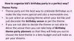 how to organize kid s birthday party in a perfect way 3