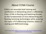 about ccna course