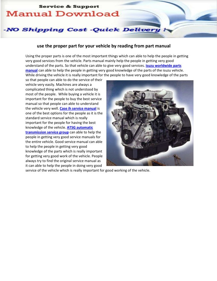 use the proper part for your vehicle by reading n.