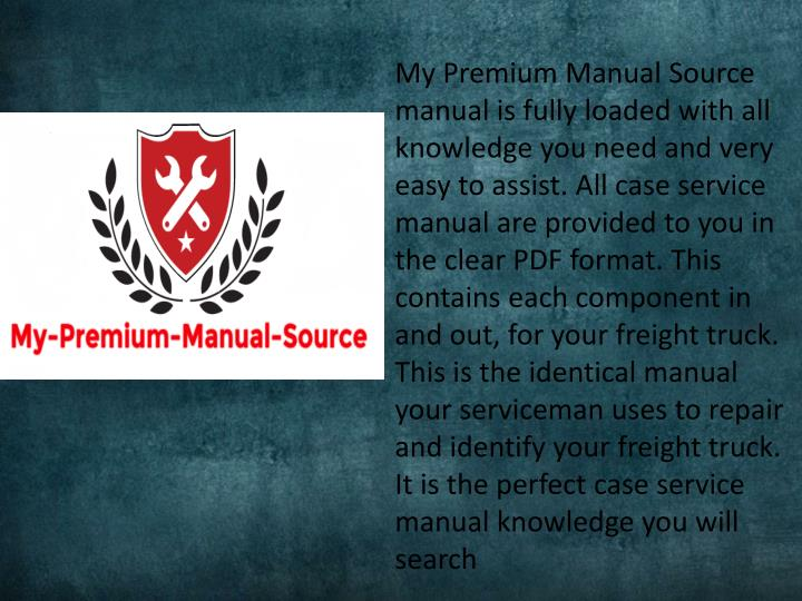 my premium manual source manual is fully loaded n.