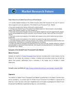 study objectives of global frozen processed food